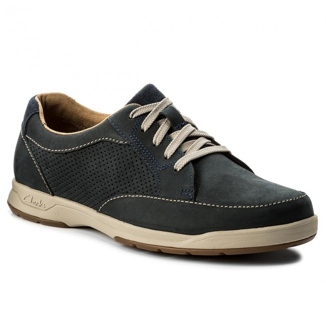 Shoes CLARKS - Stafford Park5 203532167  Navy Nubuck