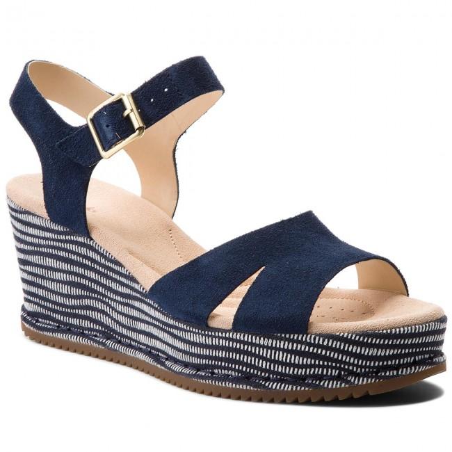 Sandals CLARKS - Akilah Eden 261309544 Navy Combi Suede