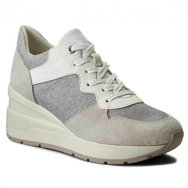 Sneakers GEOX D Zosma C D828LC 022EW C0856 Off WhiteLt Grey