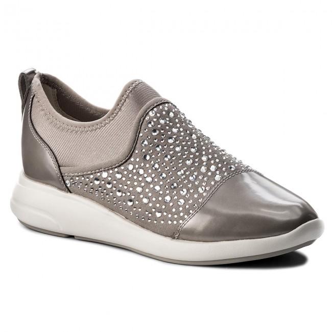 Teleférico Especialidad Coro  Shoes GEOX - D Ophira B D721CB 0AU15 C1010 Lt Grey - Flats - Low ...