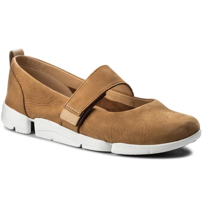 Shoes CLARKS Tri Carrie 261311064 Tan Nubuck