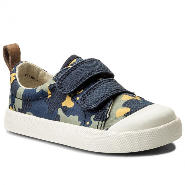Shoes CLARKS - Halcy High 261317026 Navy Camo