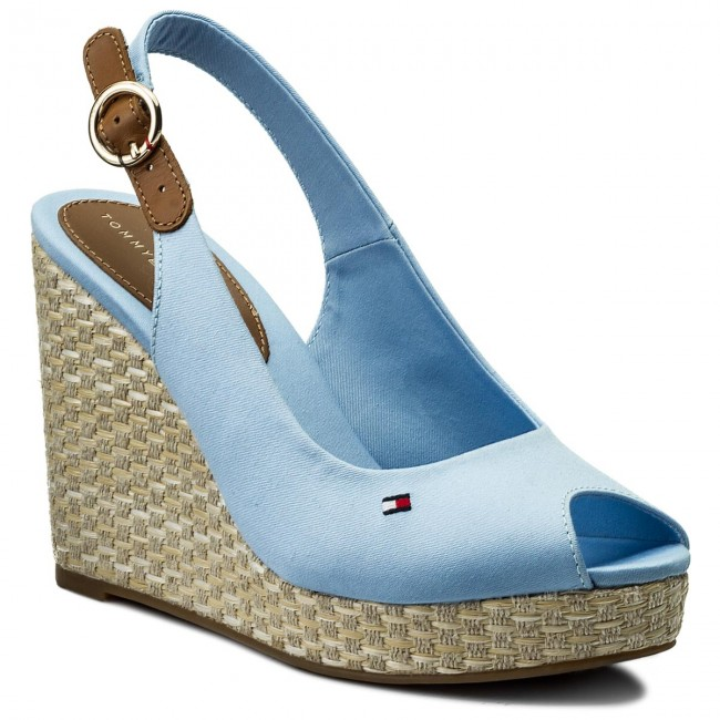 Blue TOMMY HILFIGER Sandals ICONIC ELENA SLING BACK WEDGE