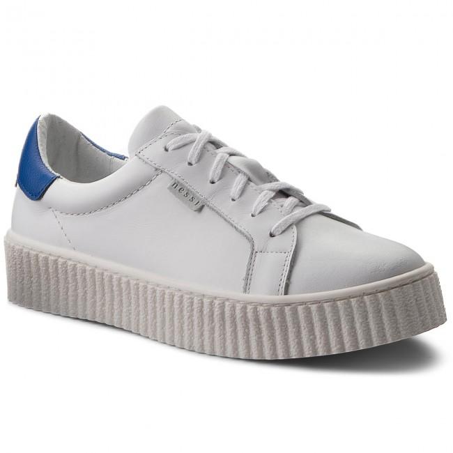 Sneakers NESSI - 17111 Biały/Niebieski