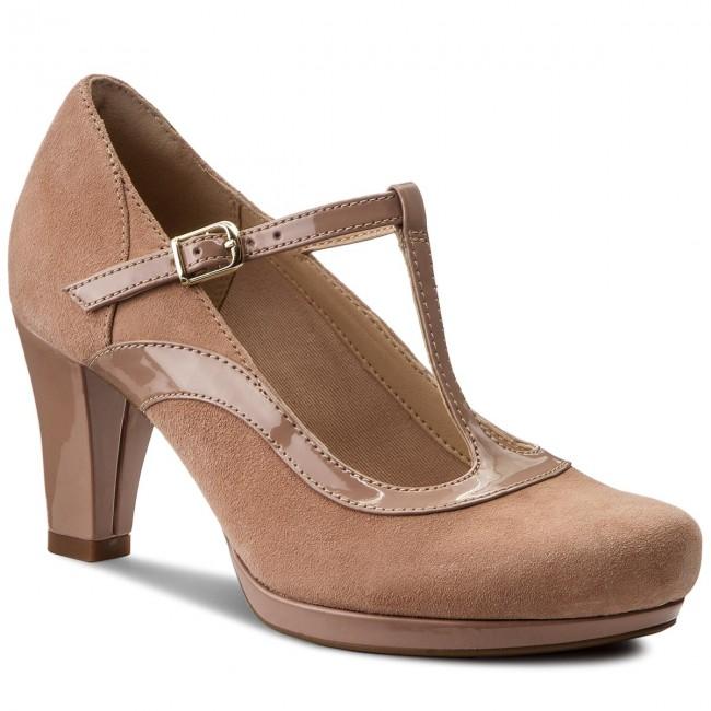 4ef60faa7089c Shoes CLARKS - Chorus Pitch 261319744 Beige Combi - Heels - Low shoes - Women's  shoes - efootwear.eu