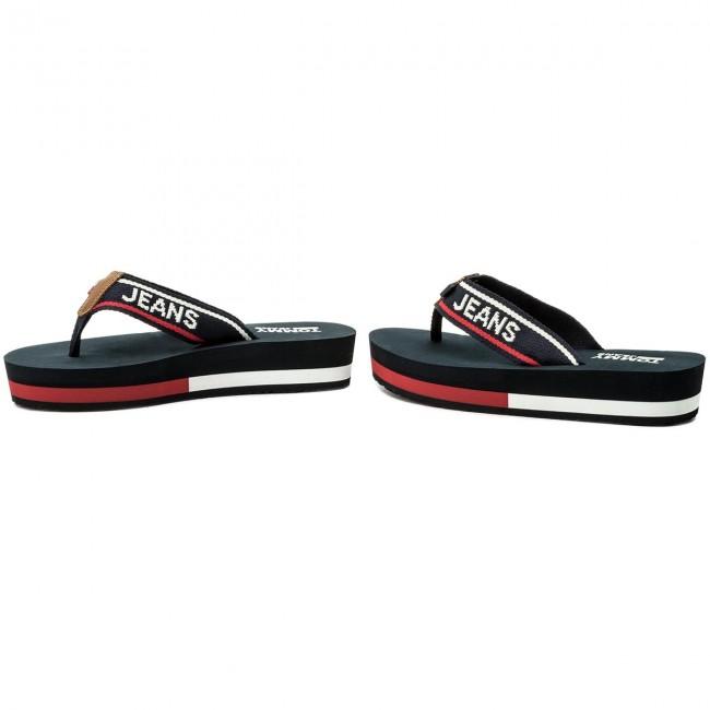 eb075944b0 Slides TOMMY JEANS - Mid Beach Sandal EN0EN00069 Tommy Navy 406