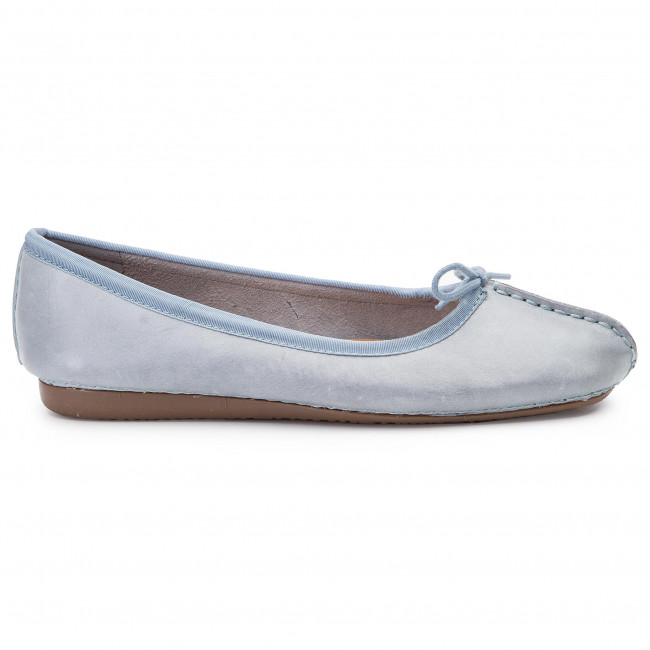 Flats CLARKS Freckle Ice 261321164 Blue Grey