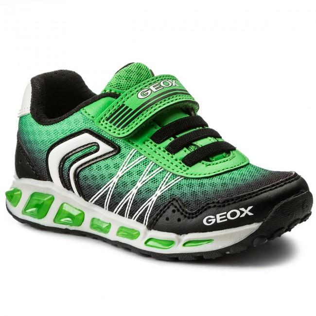 repentino temperatura Auto  Shoes GEOX - J Shuttle B. B J8294B 014BU C0016 M Black/Green - Velcro - Low  shoes - Boy - Kids' shoes   efootwear.eu