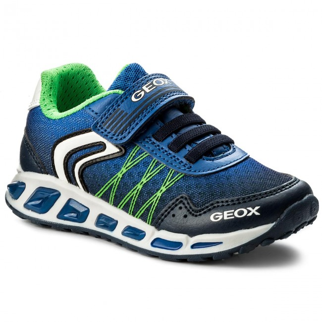 haz Academia Secretario  Shoes GEOX - J Shuttle B. B J8294B 014BU C4226 M Navy/Royal - Velcro - Low  shoes - Boy - Kids' shoes   efootwear.eu