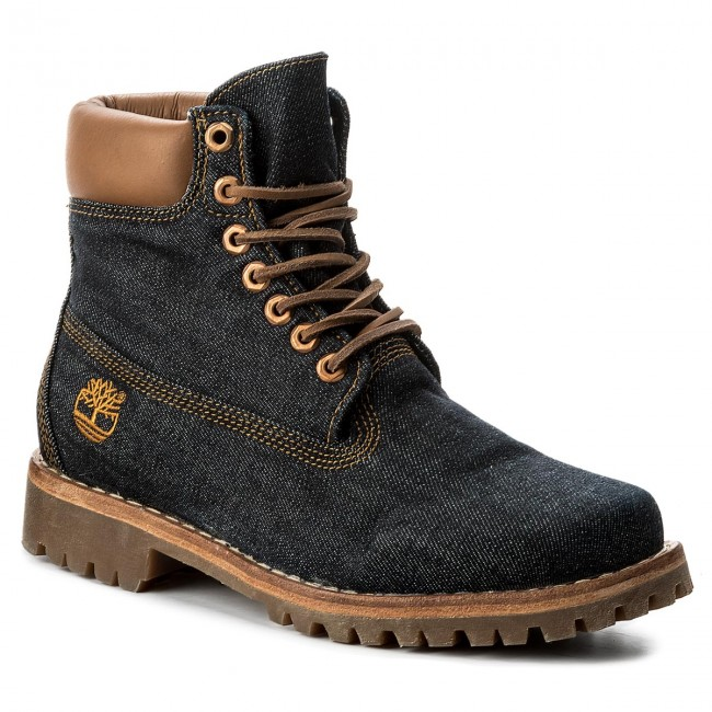 Hiking Boots TIMBERLAND Heritage 6 In Fabric C A1B3R Drk Blu
