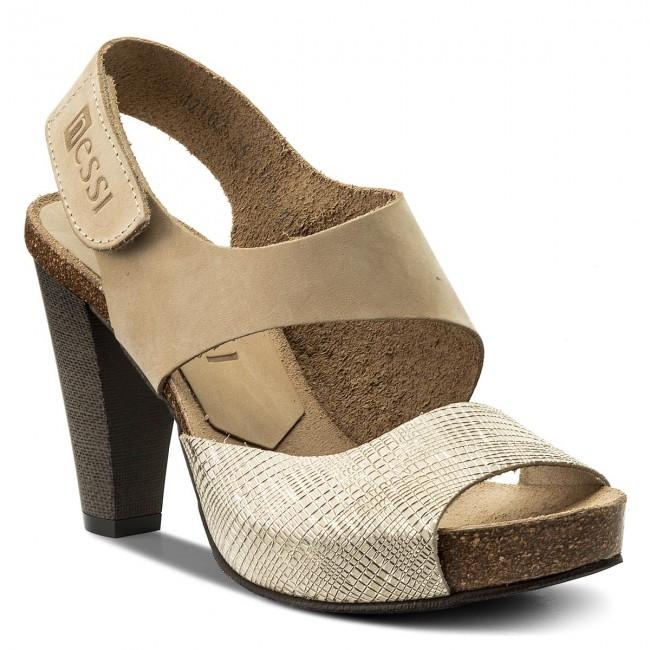 Sandals NESSI - 42103 Beż 111/St