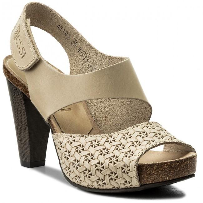 Sandals NESSI - 42103  Beż 11/Plecionka