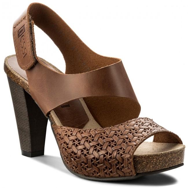 Sandals NESSI - 42103  Koniak 11/Plecionka