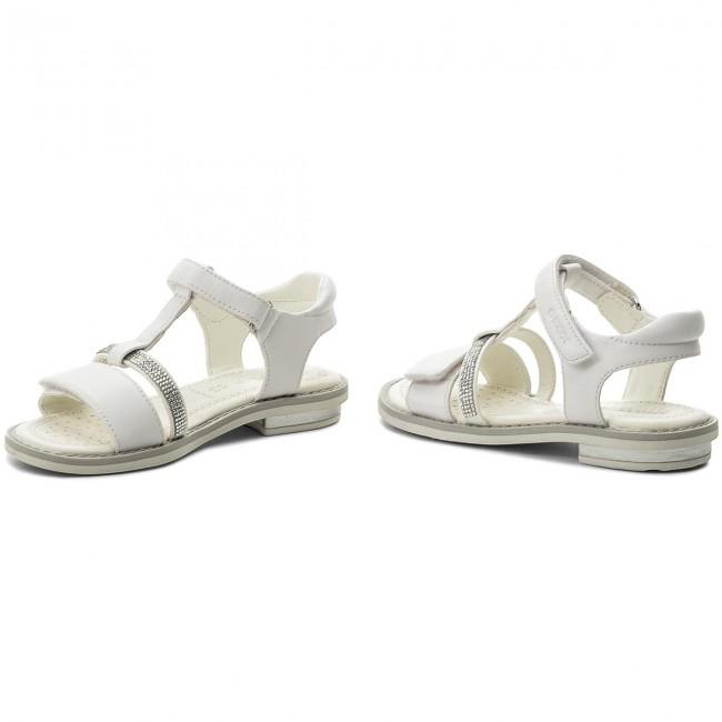 Geox giglio sandals silver kids shoes & flip flops