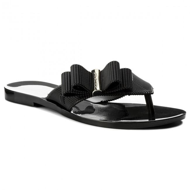 melissa Womens Girl Jason Wu Flip Flop Sandals Black//Gold 9