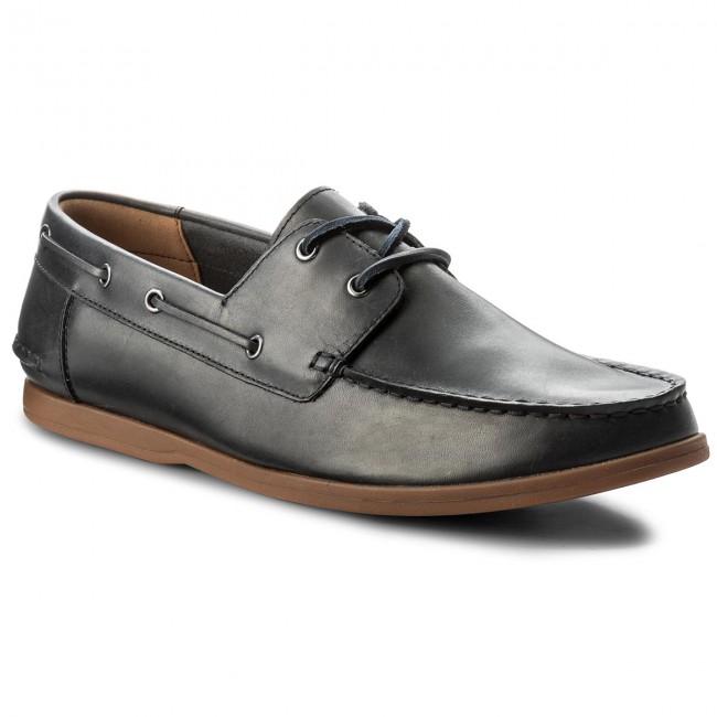 marketable wide range meet Moccasins CLARKS - Morven Sail 261324737 Navy Leather