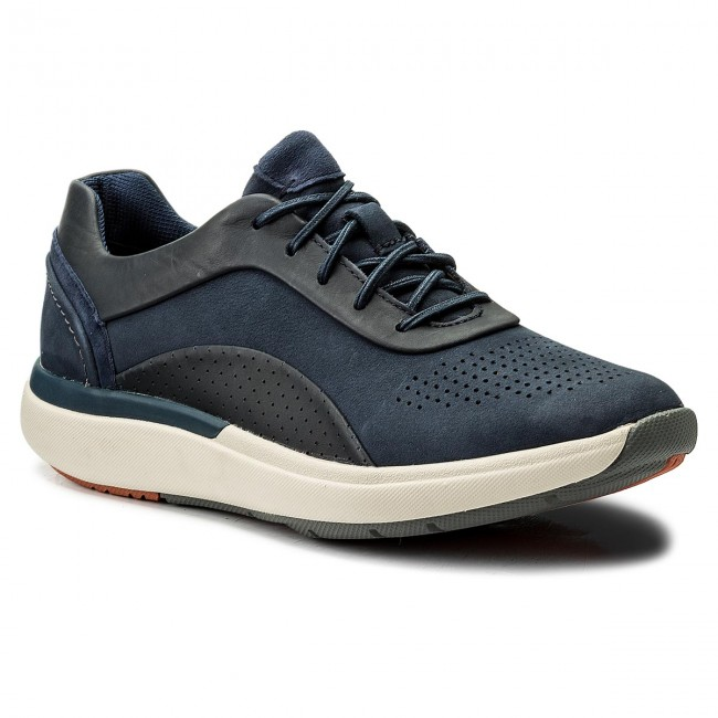 Sneakers CLARKS - Un Cruise Lace 261326704 Navy Combi