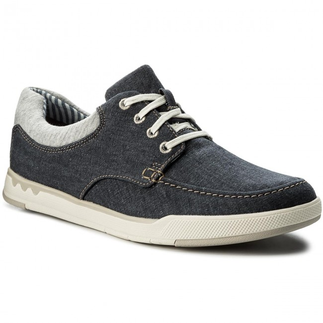 Shoes CLARKS - Step Isle Lace 261327647  Navy Canvas