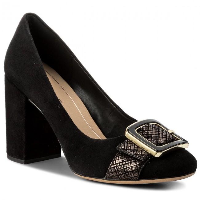 Shoes CLARKS - Amabel Faye 261274564 Black Interesed Suede