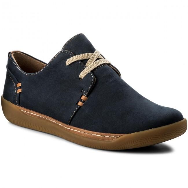aliexpress best shoes big discount Shoes CLARKS - Un Haven Lace 261328964 Navy Nubuck