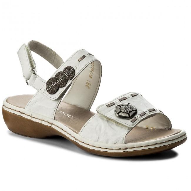 Sandals RIEKER 65972 81 Weiss Kombi
