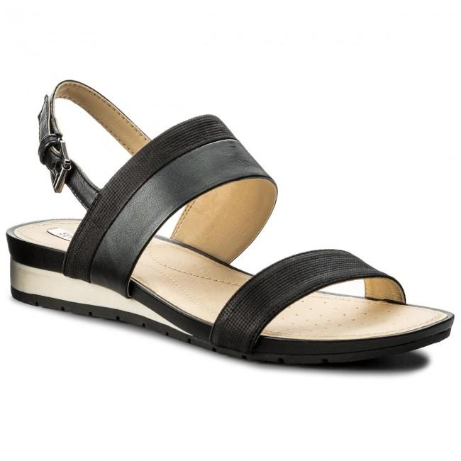 100% de satisfacción los mejores precios volumen grande Sandals GEOX - D Formosa C D7293C 0GLBV C9999 Black - Casual ...