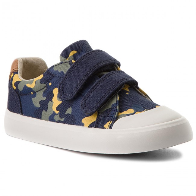 Shoes CLARKS - Comic Air 261333316  Navy Camo