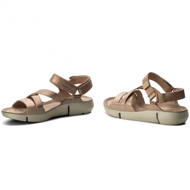 New Sandals CLARKS Tri Sienna 261337264 Rose Gold Casual