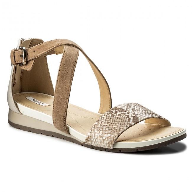 grandes ofertas 2017 diseñador de moda zapatos deportivos Sandals GEOX - D Formosa A D8293A 04185 C0662 Beige/Off White ...