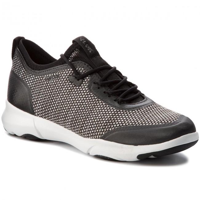 Shoes GEOX D Nebula X A D82BHA 0006K C0127 BlackWhite