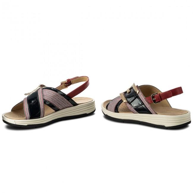 F 0awhh Sandals D Geox Navywhitered C4181 Koleos D825pf MqSzUVpG