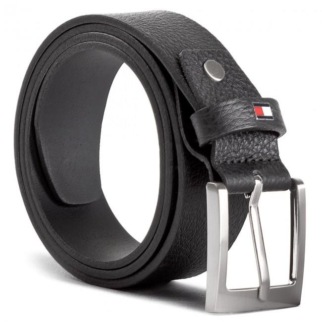 Men's Belt TOMMY HILFIGER - Grainly Leather Belt 3.5 Adj AM0AM03349 002