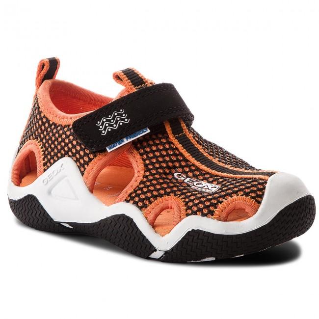 Geox Childrens Toddlers Boys Wader J5230C Breathable Sandal Royal Orange
