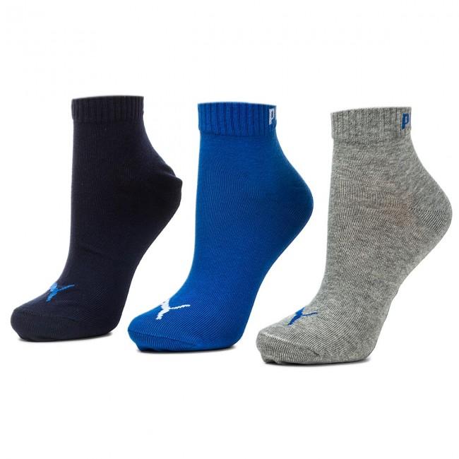 3 Pairs of Unisex High Socks PUMA - 271080001 Blue/Grey Melange 277