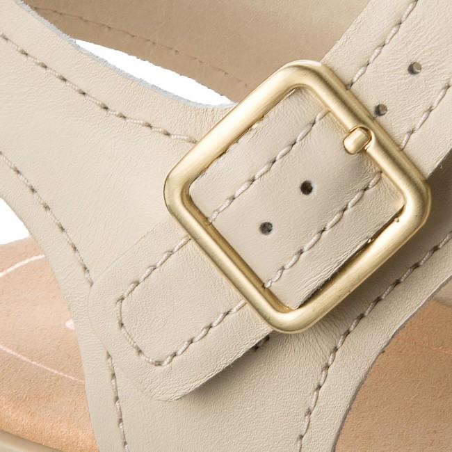 14ad0bbaf9efb Sandals CLARKS - Bay Primrose 261319374 White Leather - Casual ...