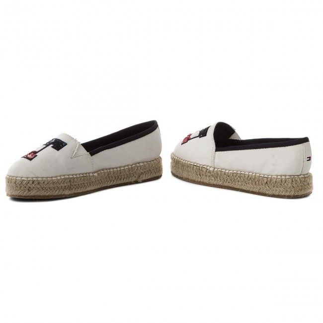b6e0f4623aaa0d Espadrilles TOMMY HILFIGER - Th Sequins Espadrille FW0FW02412 Whisper White  121