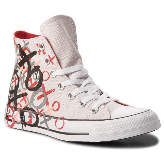 Sneakers CONVERSE - Ctas Hi 159713C Mouse/Enamel Red/White