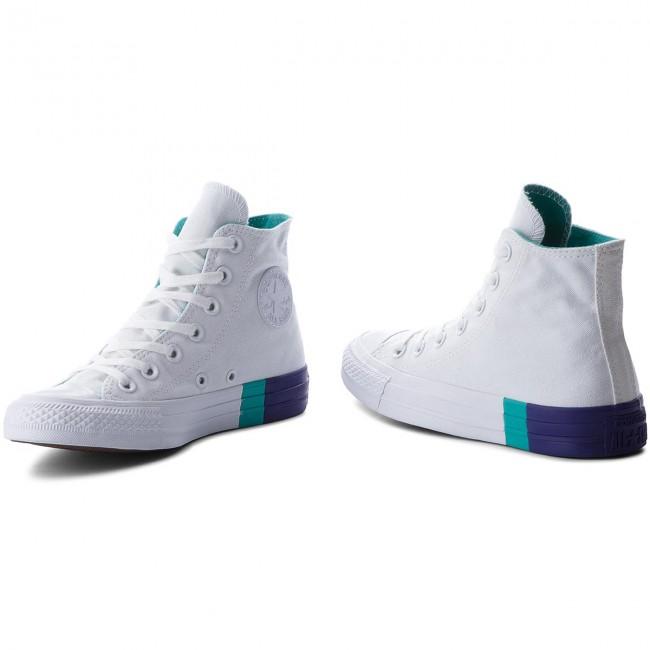Sneakers CONVERSE Ctas Hi 159519C WhiteEnamel AquaCourt Purple