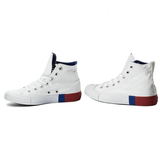 Sneakers CONVERSE Ctas Hi 159639C WhiteRedBlue