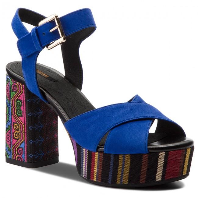 Sandals GEOX D Galene C D828WC 021AW C4011 Royal