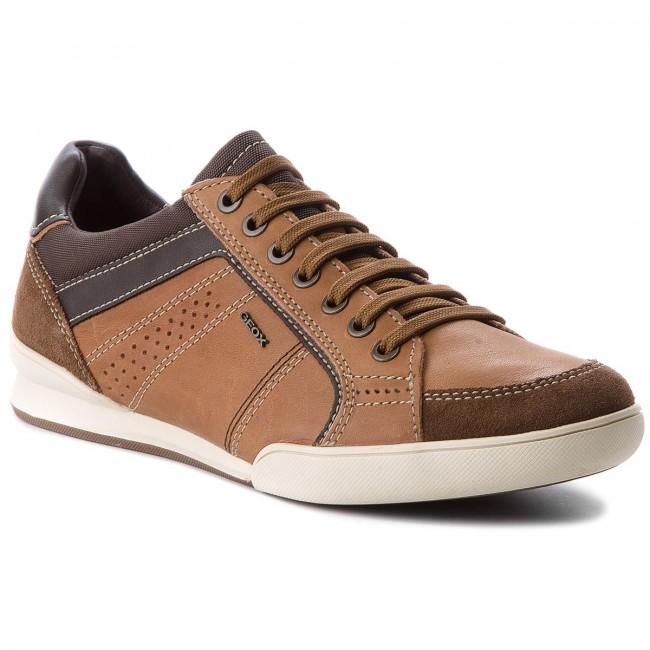 Shoes GEOX U Kristof A U620EA 0FF22 C6N6G CognacBrowncotto
