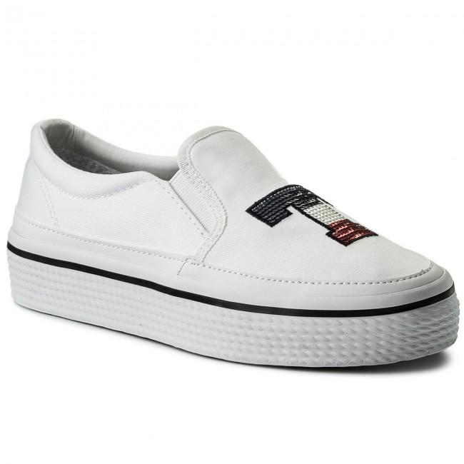 Tommy Sequins Flatform Sneaker