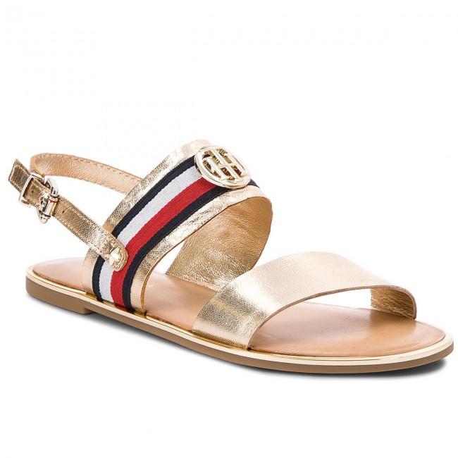 Sandals TOMMY HILFIGER - Corporate Ribbon Flat Sandal Met FW0FW02837 Mekong  709