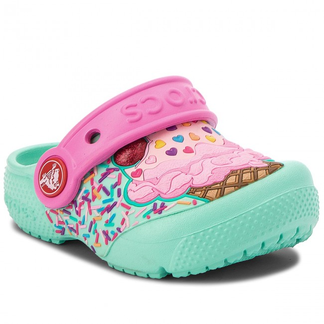 91d37abbe8f Slides CROCS - Fun Lab Clog K 205001 Mint/Party Pink - Clogs and mules -  Clogs and sandals - Girl - Kids' shoes - efootwear.eu