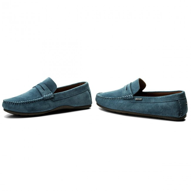 a5619ae14c Moccasins TOMMY HILFIGER - Classic Suede Penny Loafer FM0FM01168 Jeans 013