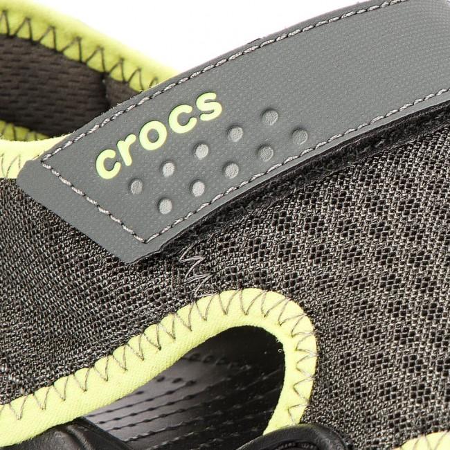 Sandals CROCS Swiftwater Sandal M 15041 Slate GreyTennis Ball Green