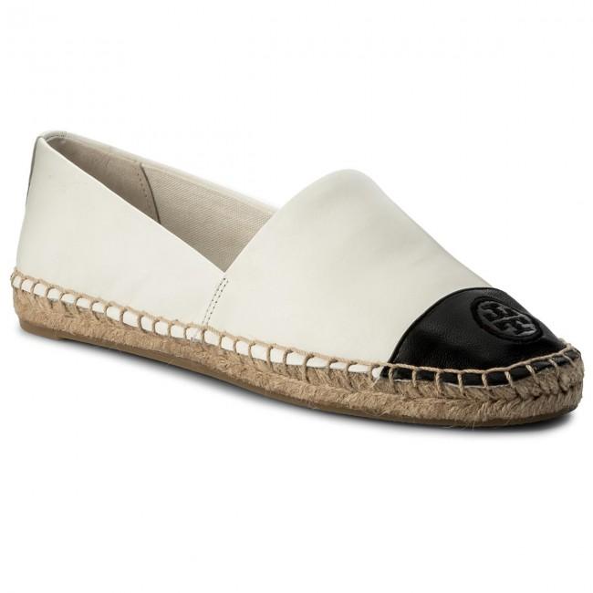 Espadrilles TORY BURCH - Color Block Flat Espadrille 51158649 Ivory/Black 106 - Espadrilles - Low shoes - Women's shoes | efootwear.eu