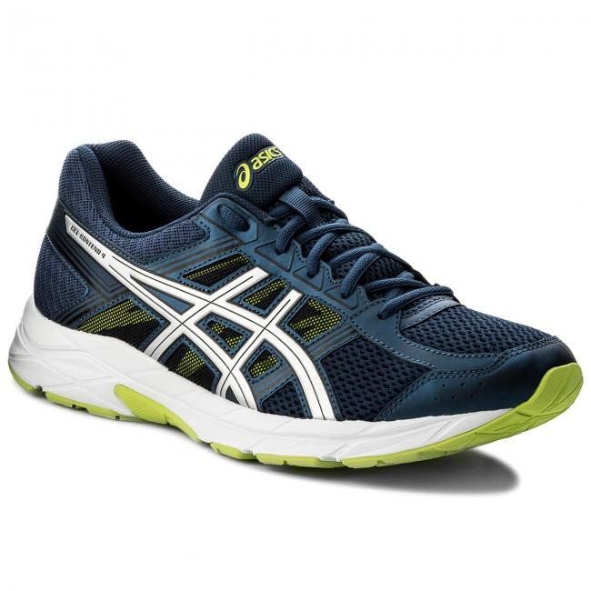 Hizo un contrato elegante experiencia  Shoes ASICS - Gel-Contend 4 T715N Dark Blue/Silver/Safety Yellow 4993 -  Indoor - Running shoes - Sports shoes - Men's shoes | efootwear.eu