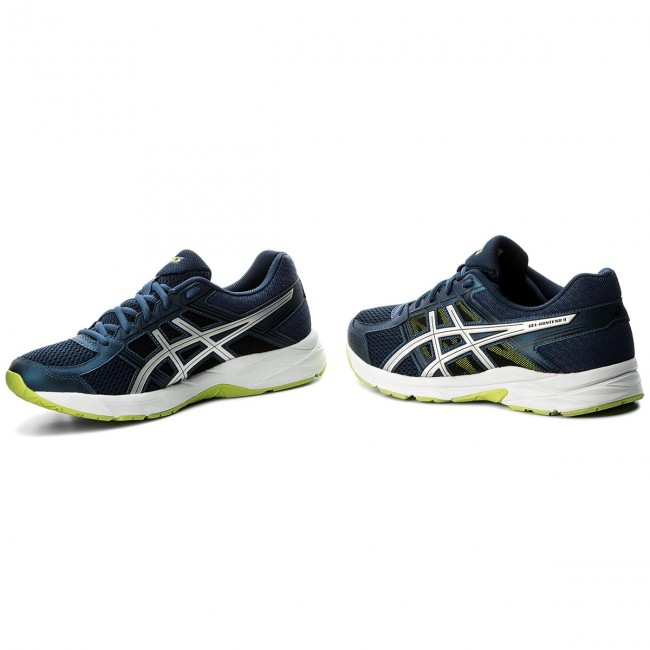 Shoes ASICS Gel Contend 4 T715N Dark BlueSilverSafety Yellow 4993