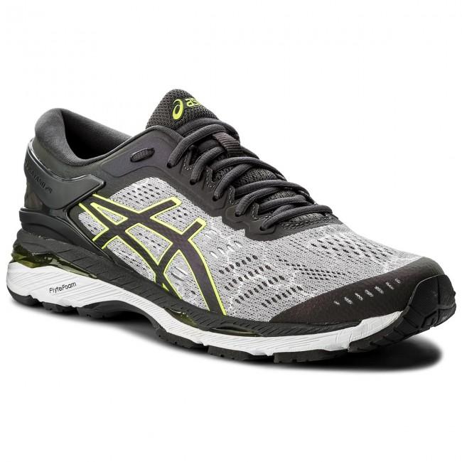 Shoes ASICS Gel Kayano 24 Lite Show T8A4N Mid GreyDark GreySafety Yellow 9695